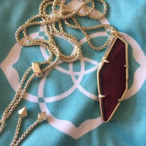 Kendra Scott Maroon Necklace